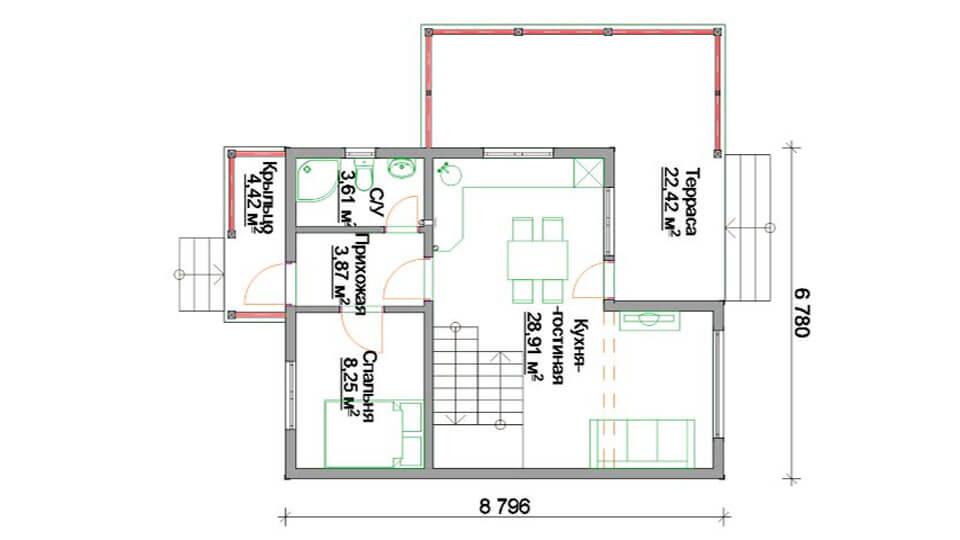 Проект дома 110 кв.м.