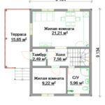Акция! Только до 31 декабря!  Готовый дом 107 кв.м. на участке 9 сот. с коммуникациями за 1,935 млн.руб.!