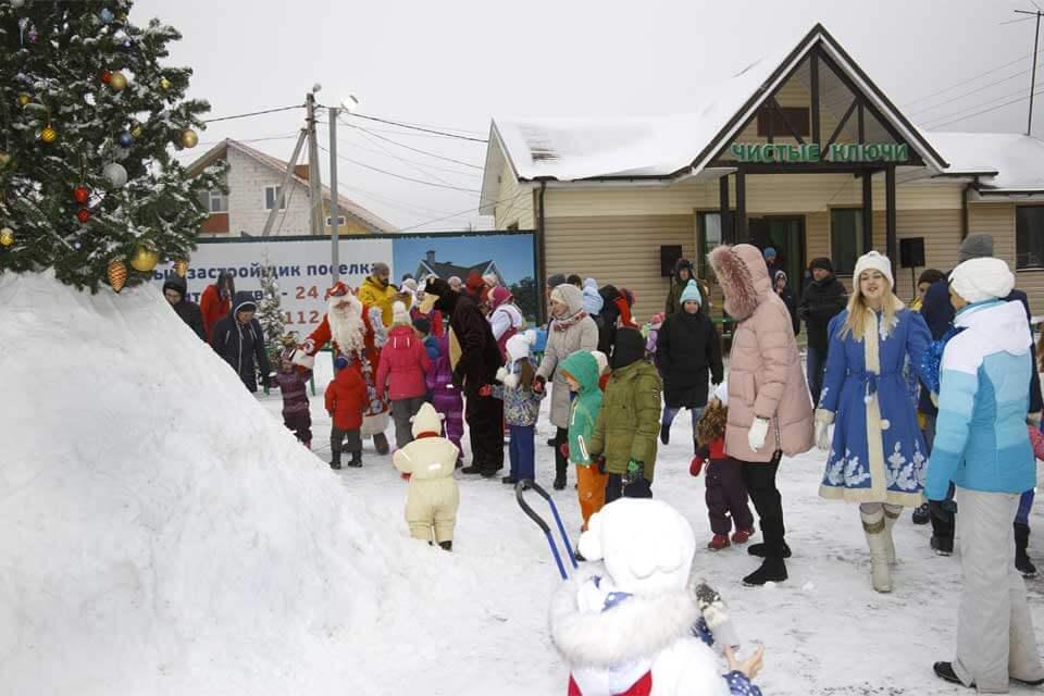 Зимняя сказка в наших посёлках. Празднуем Новый год!